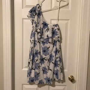 One Shoulder Ruffle Sleeve Dress - size L